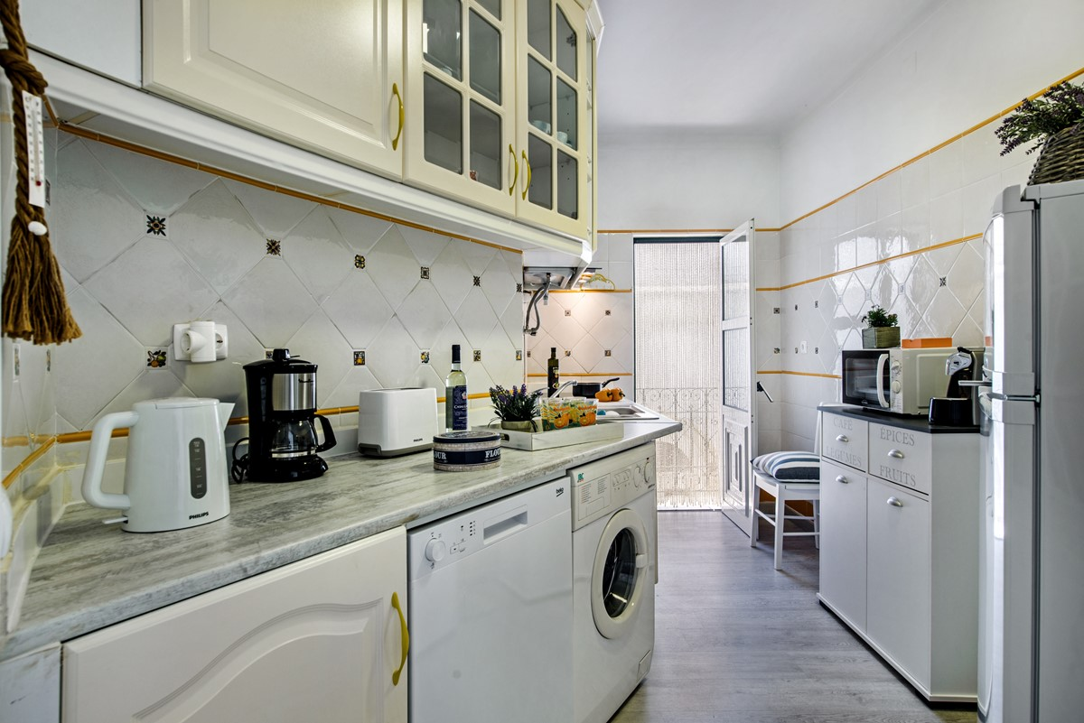 The kitchen at our 2 bedroom City centre Apartment