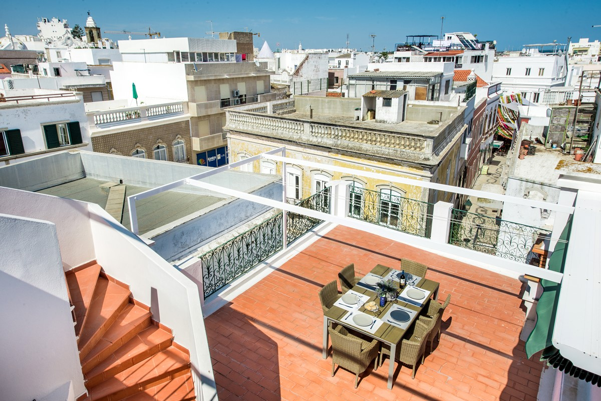 Looking down from the top terrace what a fantastic holiday apartment we have