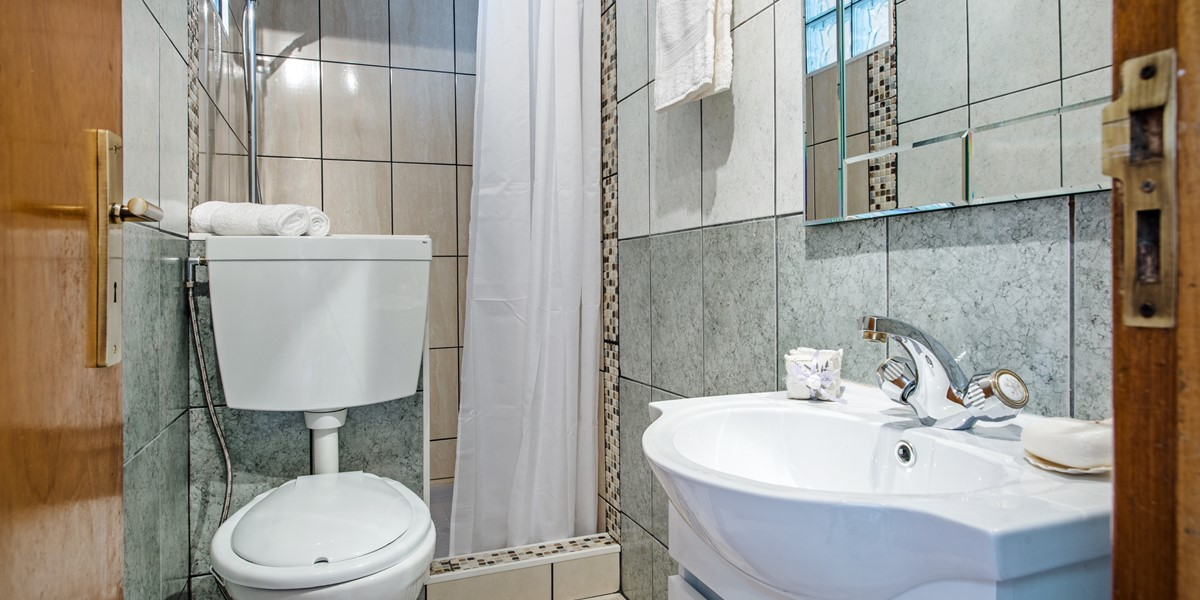 Second bathroom with a large walkin shower