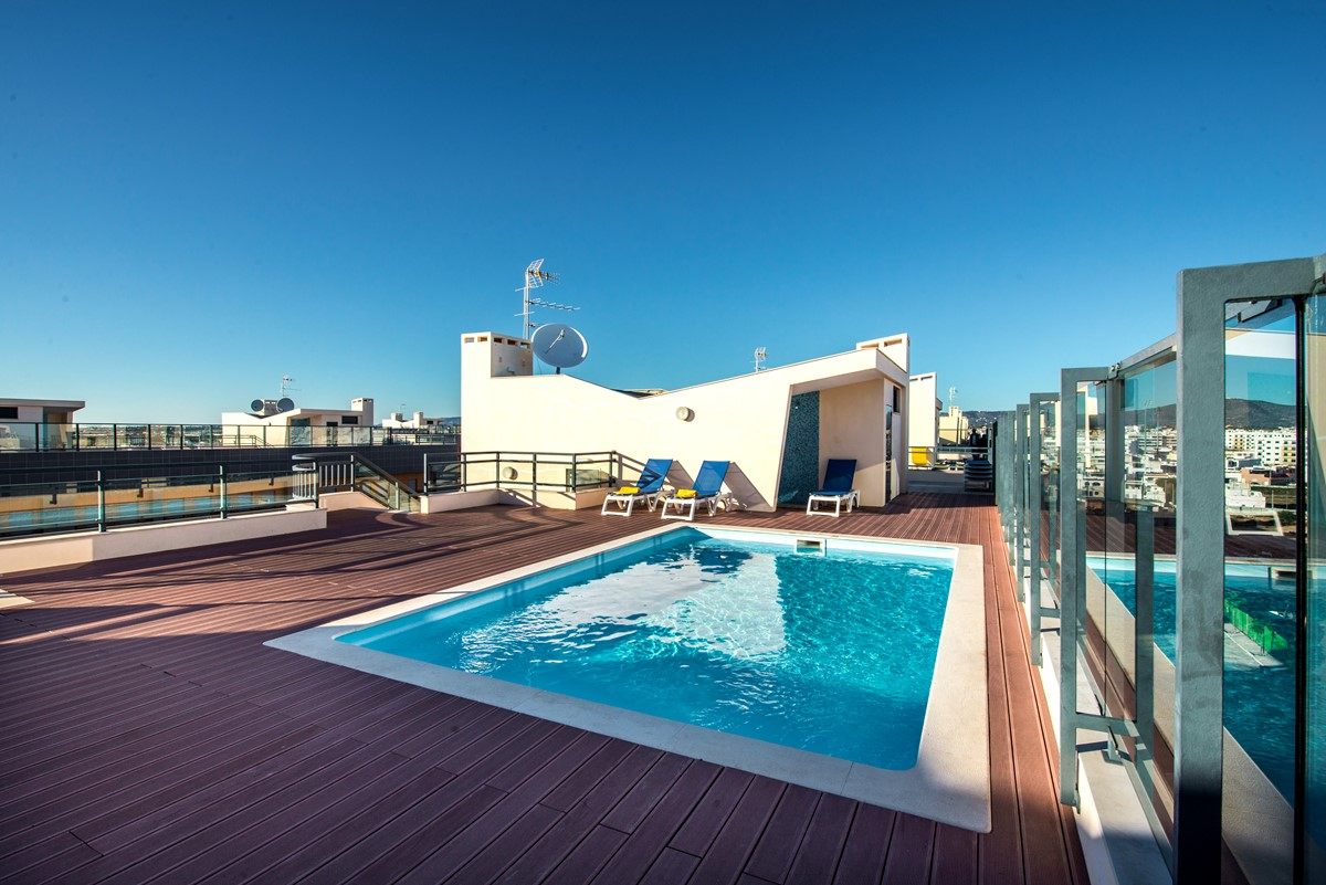 Rooftop swimming pool with stunning views