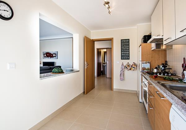 The kitchen is well designed and well equipped