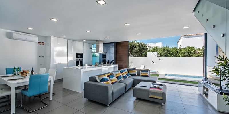 A bright and spacious open plan living arrangement