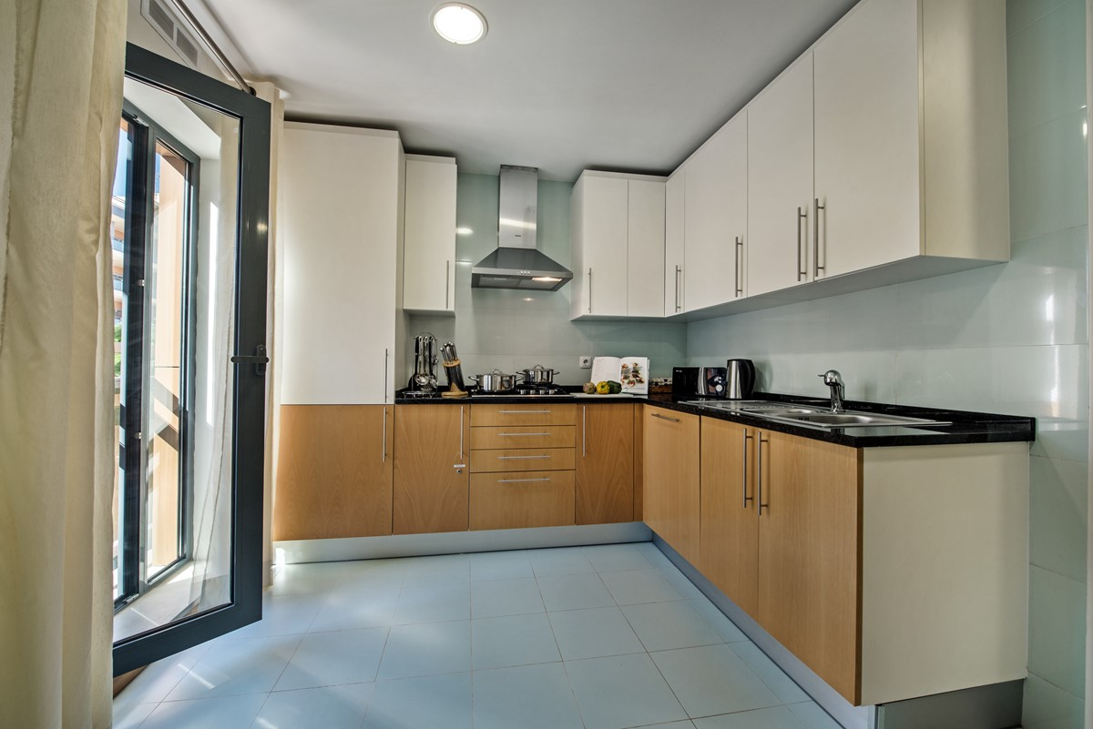 Very well equipped and modern kitch suits our trendy apartment