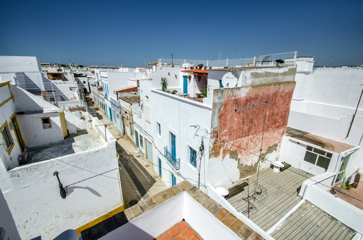 The famous cubist rooftops of Olhao