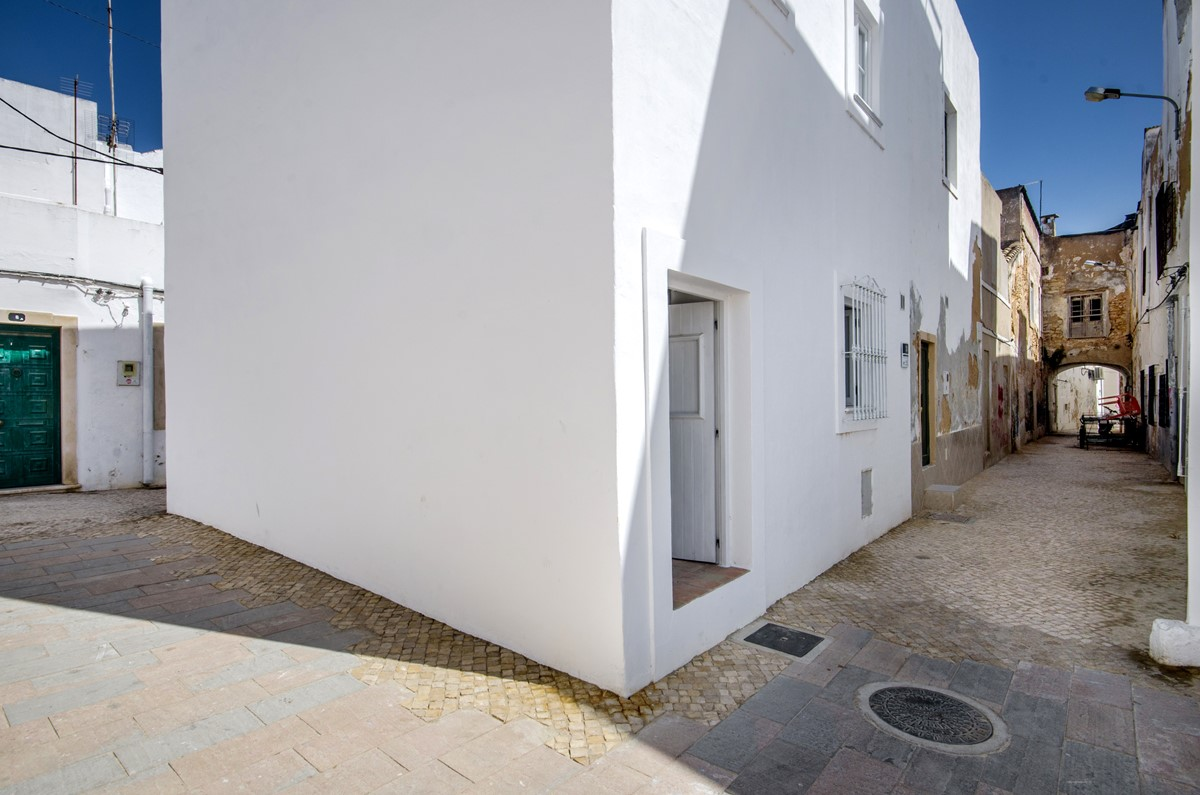 This is the back door for our 2 bedroom holiday home looking out on to the square