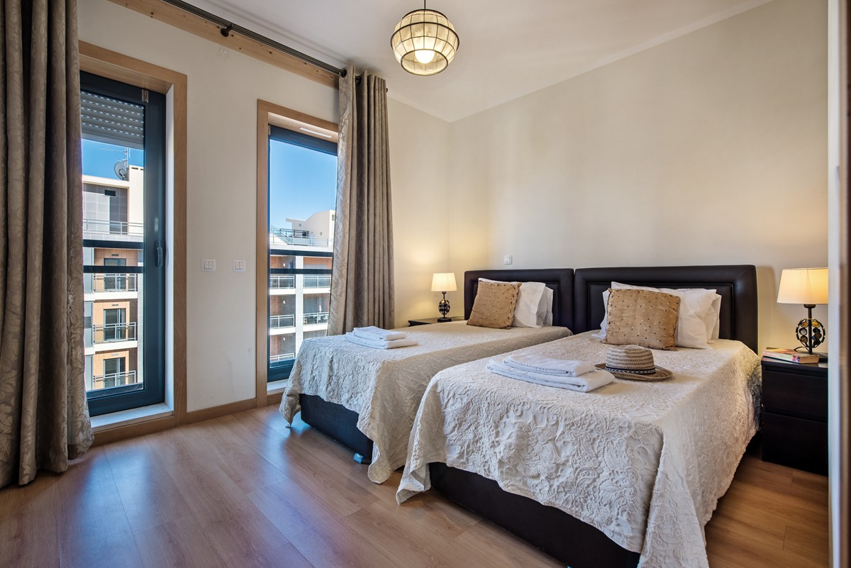 Comfortable beds in the Twin bedroom