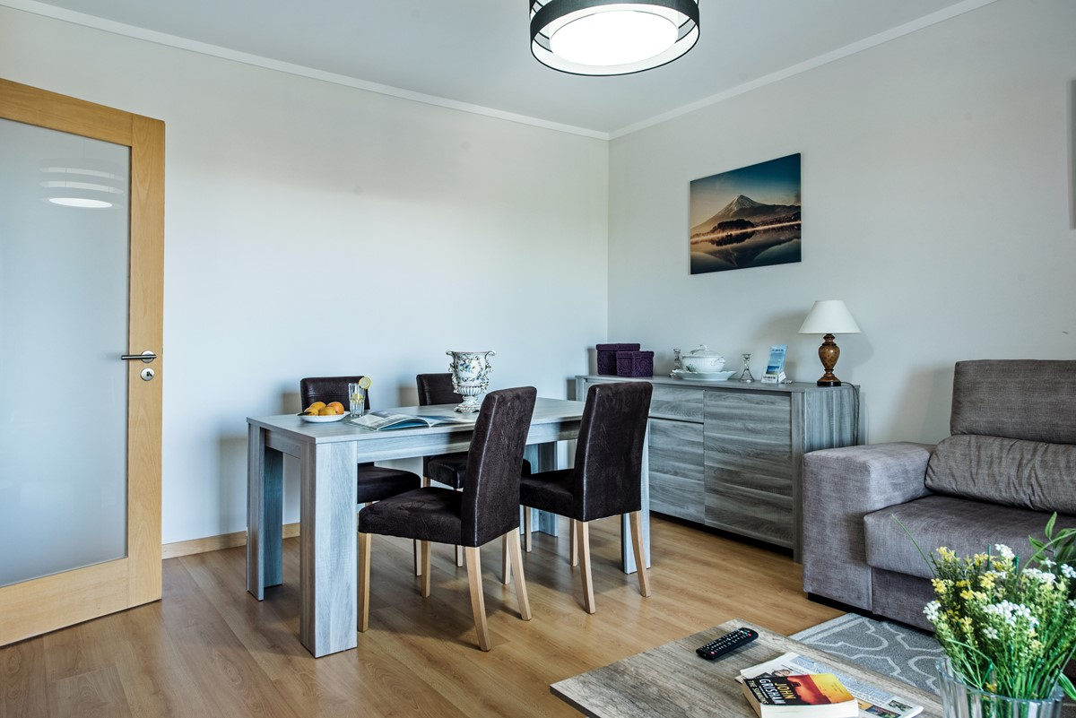 A modern and chic dining Area