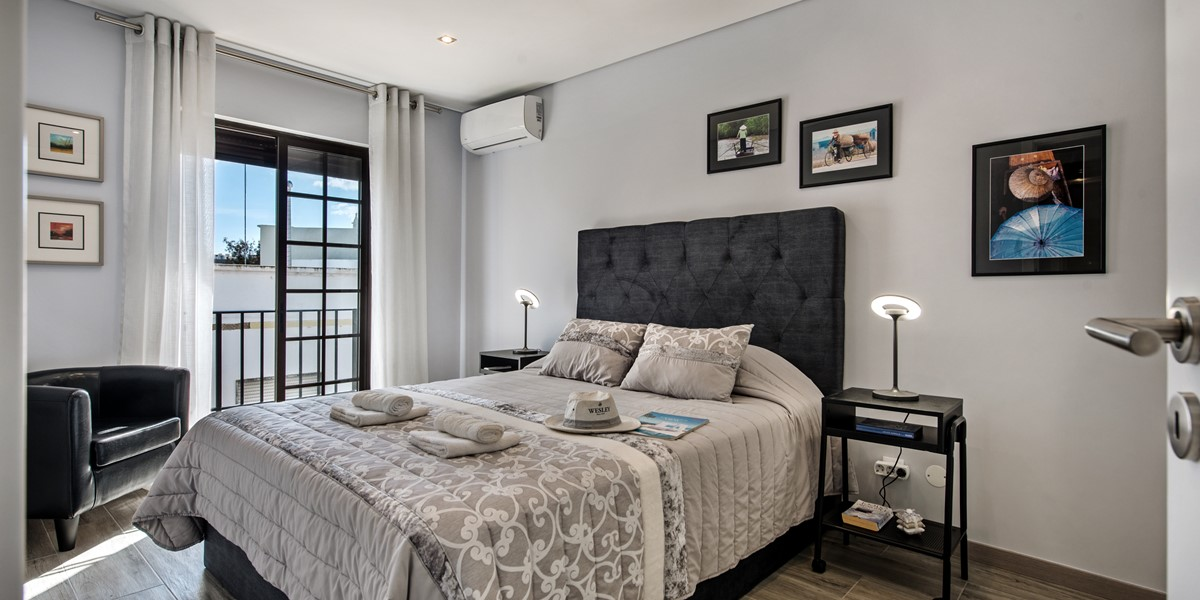 Luxury in the master bedroom at our city centre spot