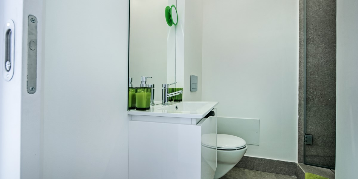 First floor bathroom modern and chic