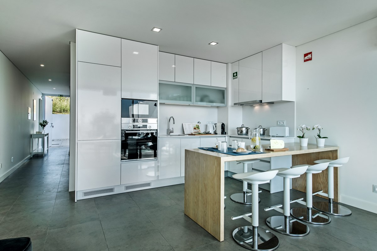 A Galley Style Kitchen Perfect For Cooking Up Some Great Local Food