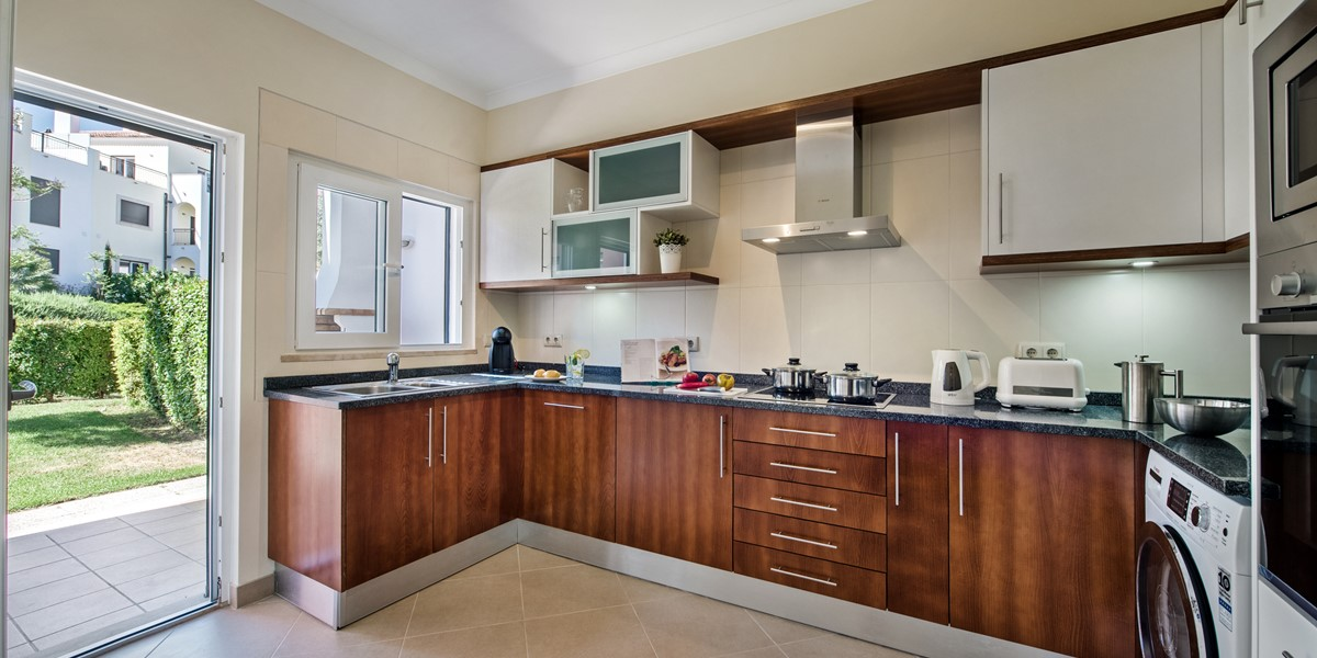 A Huge Smart Fitted Kitchen With Direct Access To The Garden