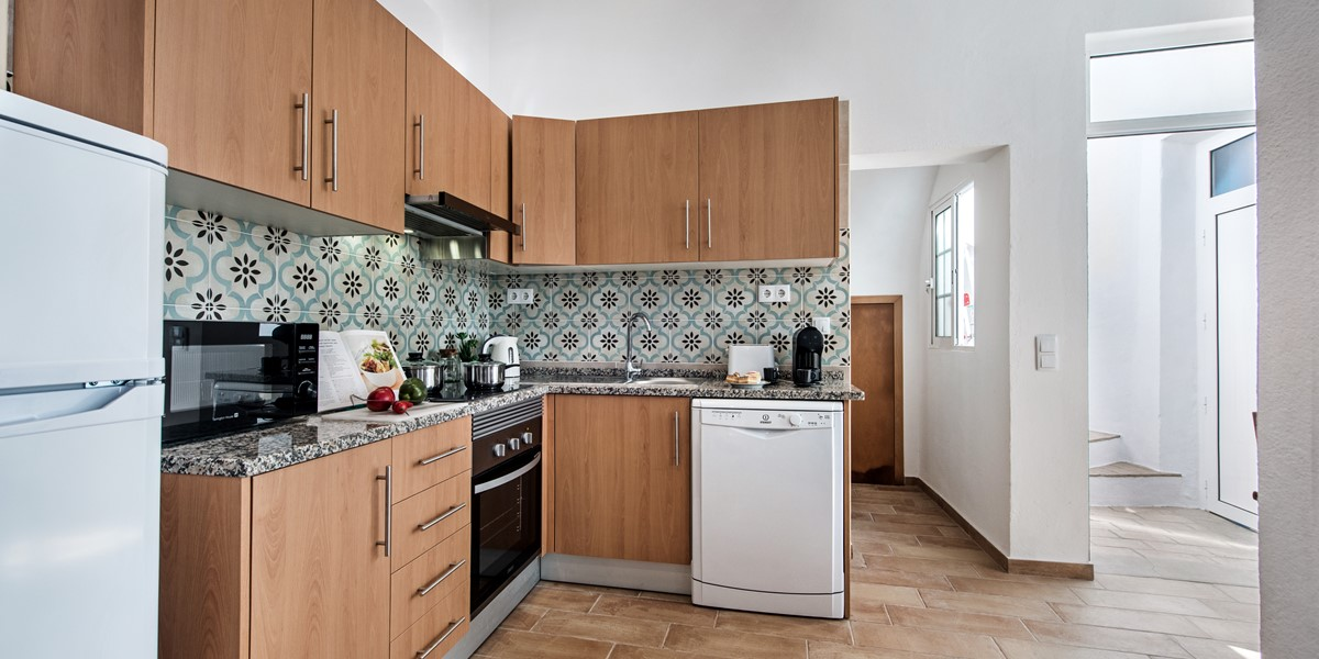 A Kitchen With Traditional Portuguese Tiles