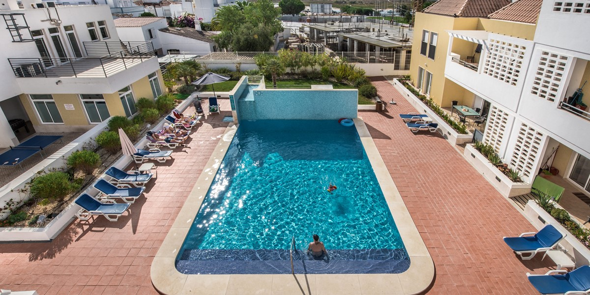 Looking Down To The Gorgeous Swimming Pool From Apartment Lusitana