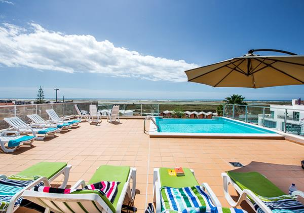 Sun loungers for residents to enjoy